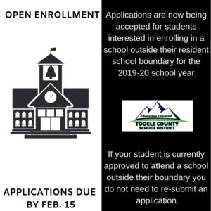 Open enrollment applications due Feb. 15