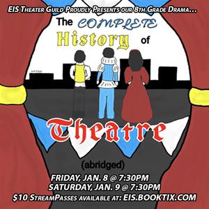 Promotional poster.  Original artwork by Edison Intermediate School 8th grader Ashlynn Pepe.