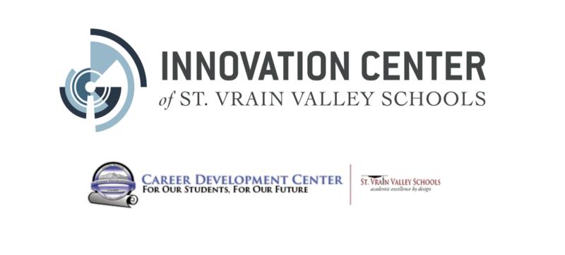 Logos for Innovation Center and career development center