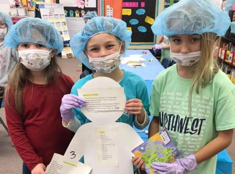 """Surgical Residents"" spent the day learning about non-fiction text features."
