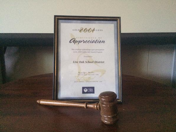 Governing Board Award