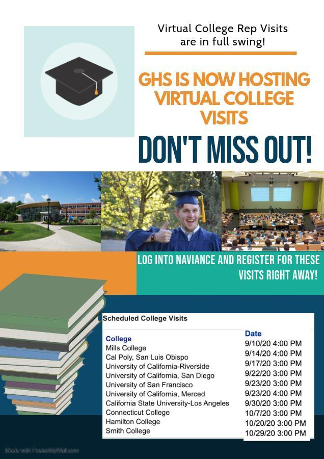 GHS Virtual College Visits