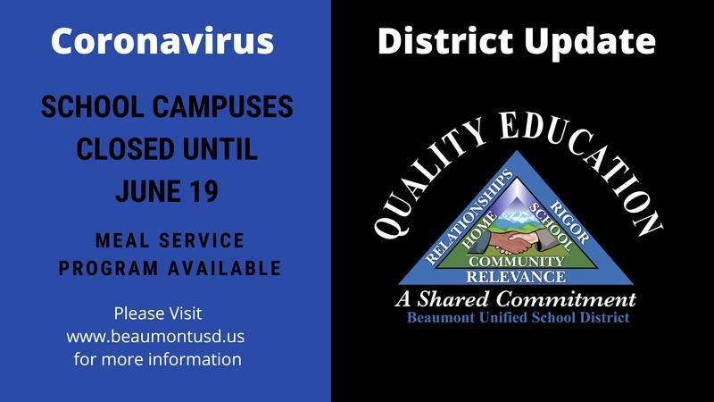 School Campuses Closed Until June 19