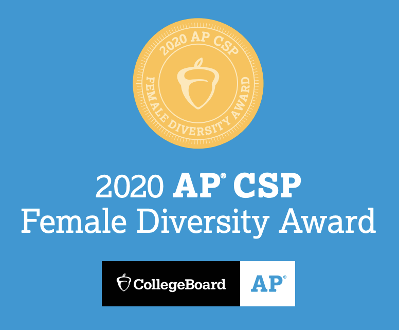 NDB recognized by Collegeboard with the AP Computer Science Female Diversity Award Thumbnail Image