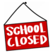 red school closed sign