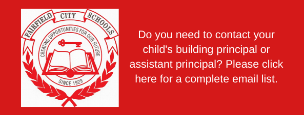 Graphic link to principal and assistant principal email addresses.