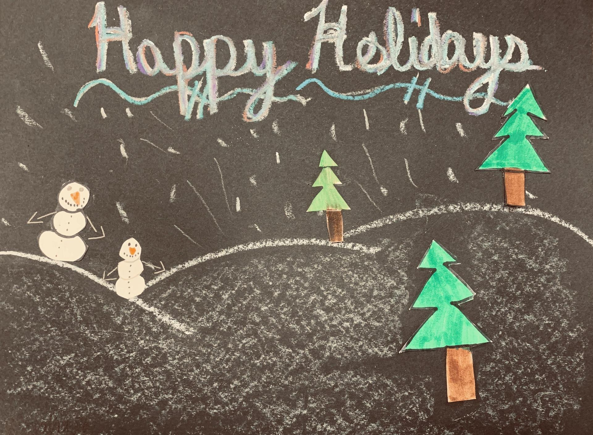Holiday Card:  Saphiria Grice, Silver Valley Elementary