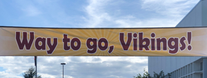 Way to go, Vikings! Banner