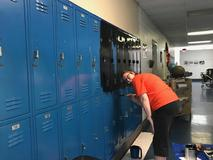 FCMS Staff works to clean up our campus