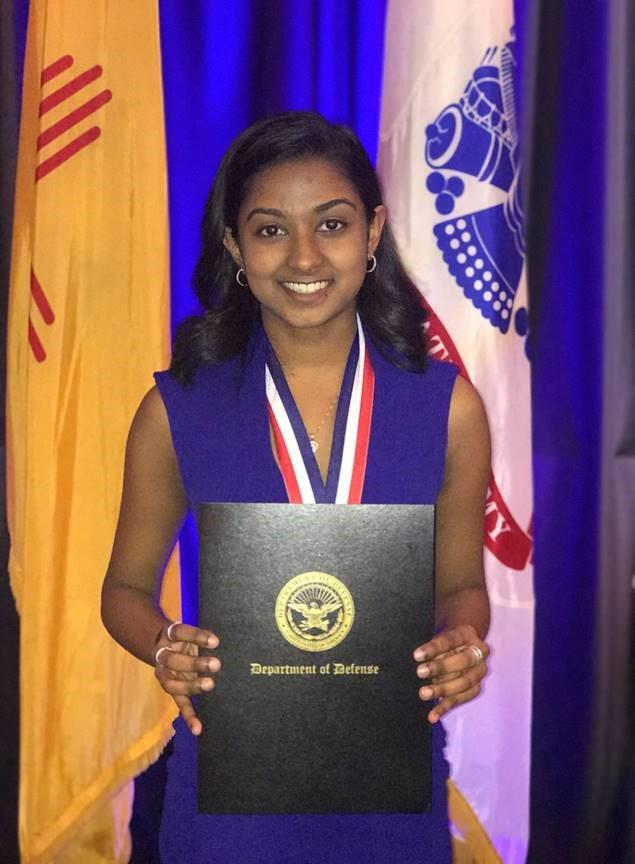 Junior Astha Dalal competed last week in the Junior Science and Humanities Symposium Nationals Competition, which is actually an international competition, in Albuquerque, NM and took home 3rd place for Biomedical Science.
