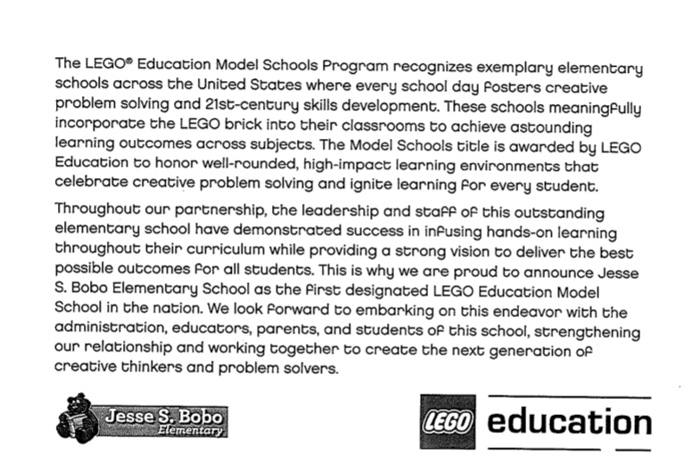 announcement from LEGO Edu