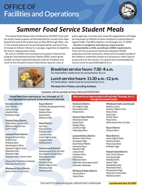 summer food distribution