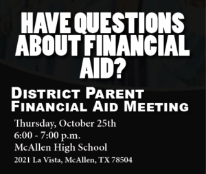 district financial aid parent meeting flyer