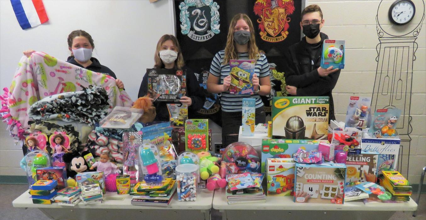 NHS students conducted a toy drive for Helen DeVos Children's Hospital.