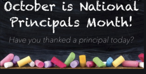 Principal's Month graphic