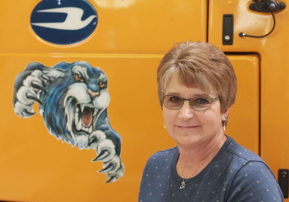Image of bus driver Diana Leake