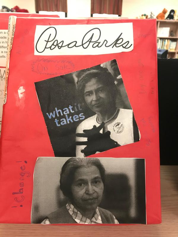 Created cereal box featuring Rosa Parks