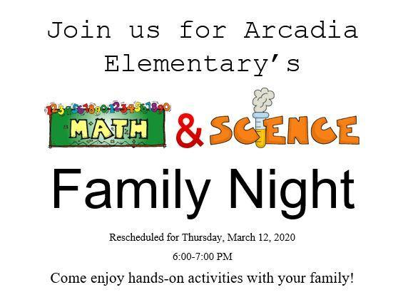 Math and Science Family Night