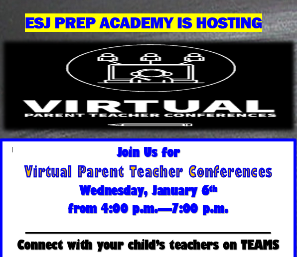 VIRTUAL PARENT TEACHER CONFERENCE NIGHT WEDNESDAY, JANUARY 6TH--4PM UNTIL 7PM Thumbnail Image