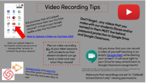 Video Recording Tips