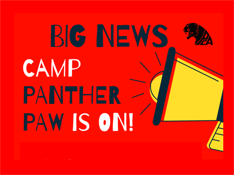 Big News, Camp Panther Paw is On!