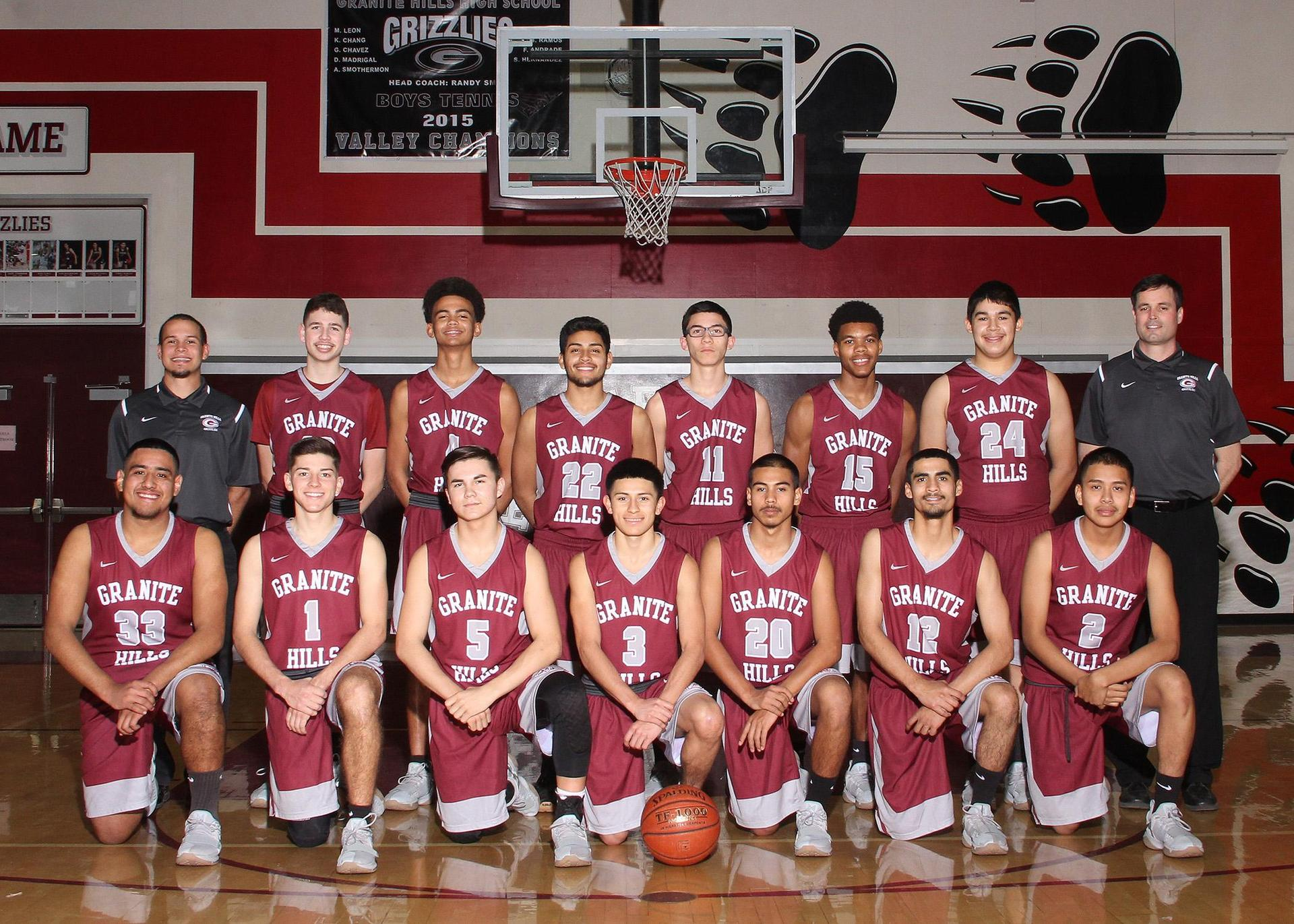 Varsity Gentlemen Grizzly Basketball