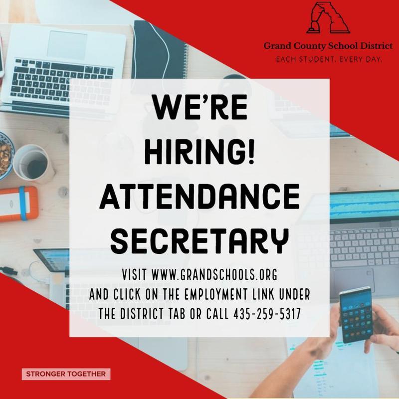 Now Hiring! H.S. Attendance Secretary Featured Photo