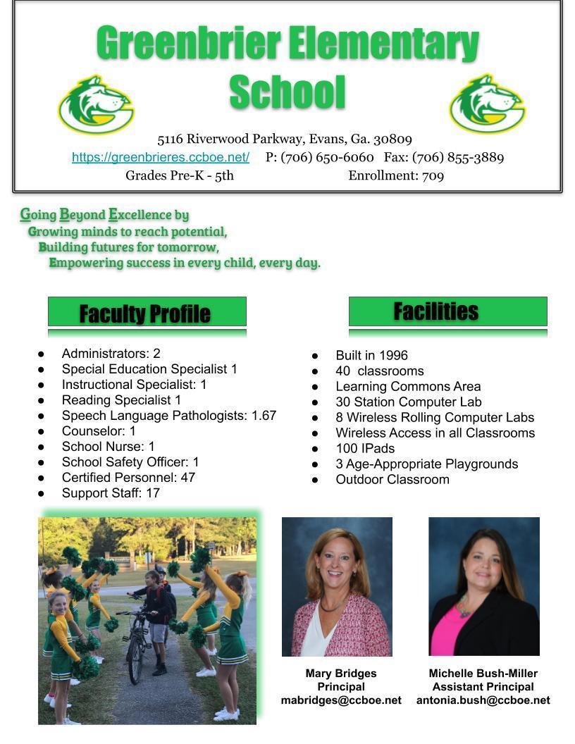 GBE School Profile pg 1