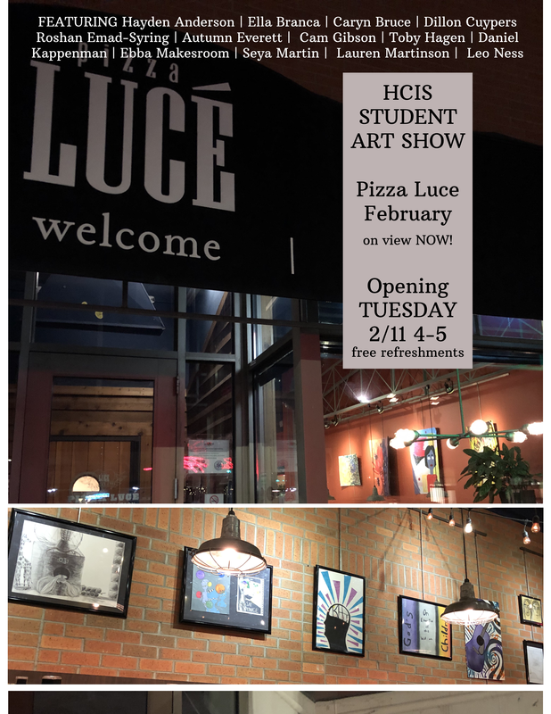 HCIS Art Show at Pizza Luce Featured Photo