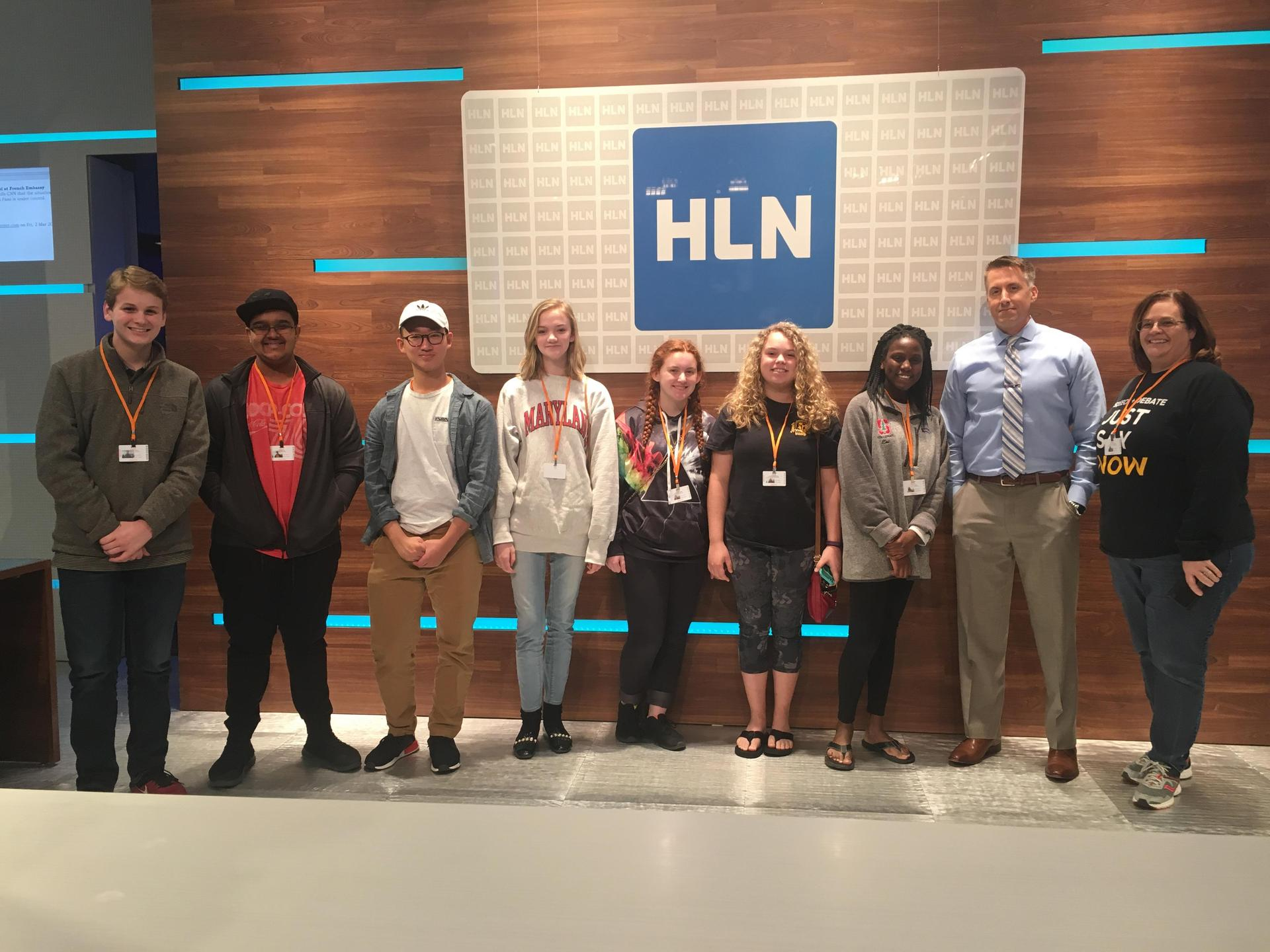 Members of the team got to meet HLN weatherman, Bob Van Dillen.
