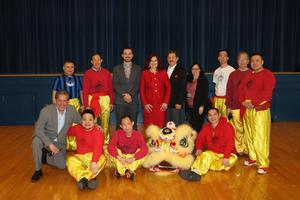 Collin Powell Admin with Chinese New Years Performers