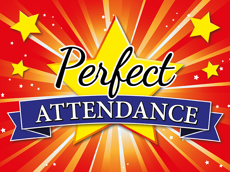 Let's recognize our perfect attendance students! Featured Photo