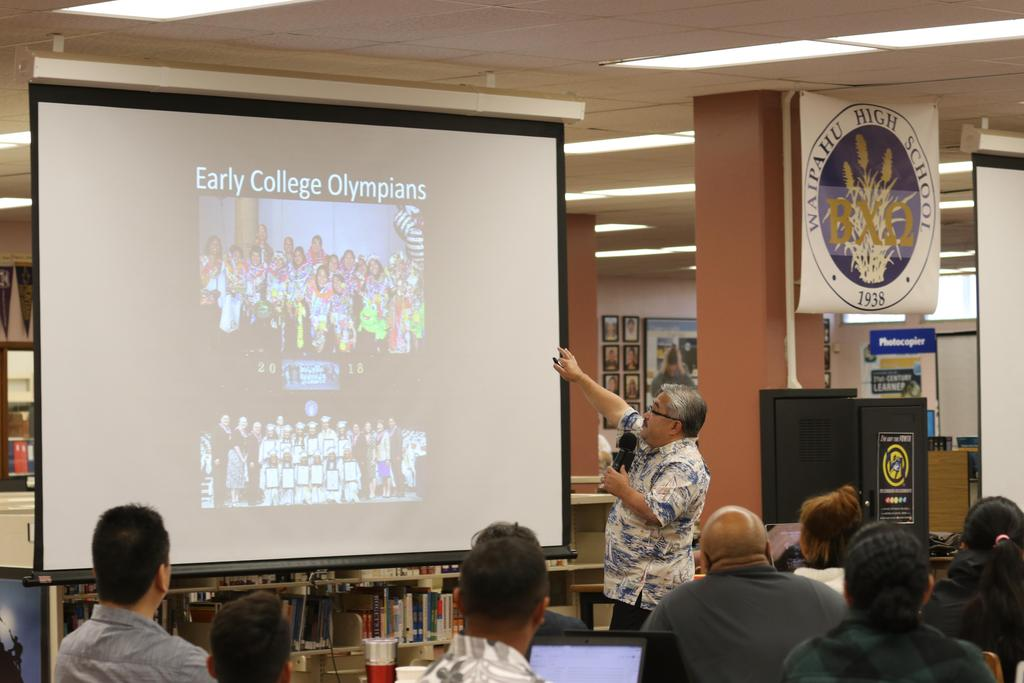 Mr. Hayashi talks about Early College Olympians