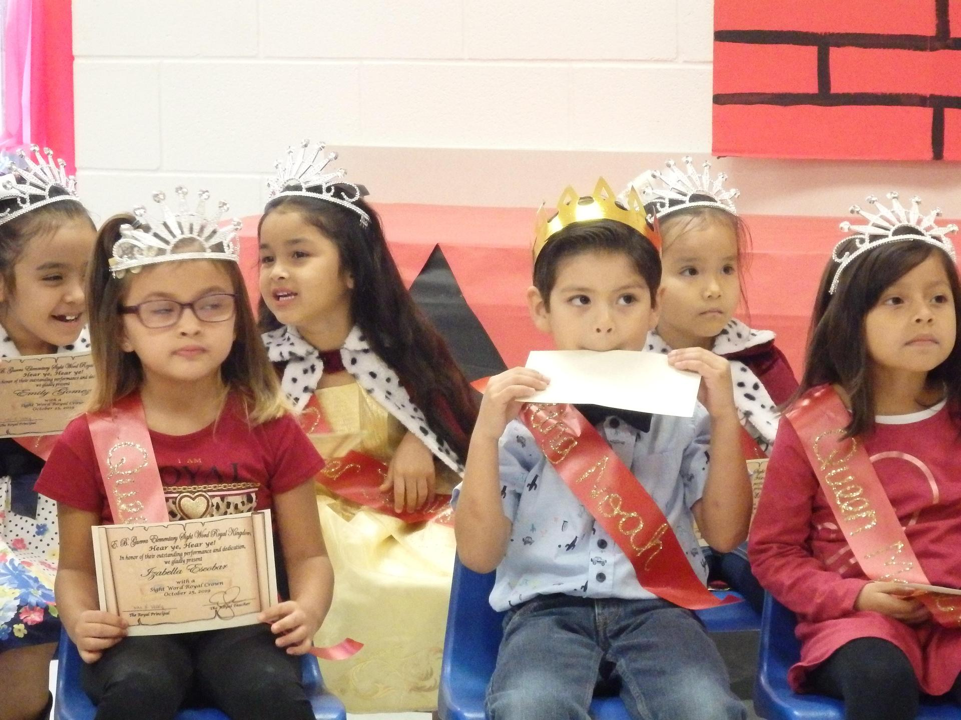 Kinder sight words kings and queens