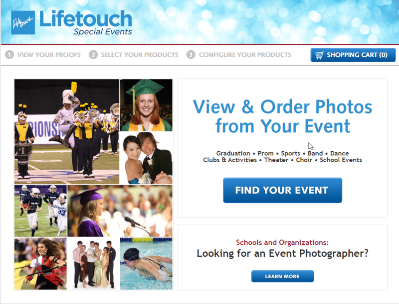 Lifetouch photo ordering