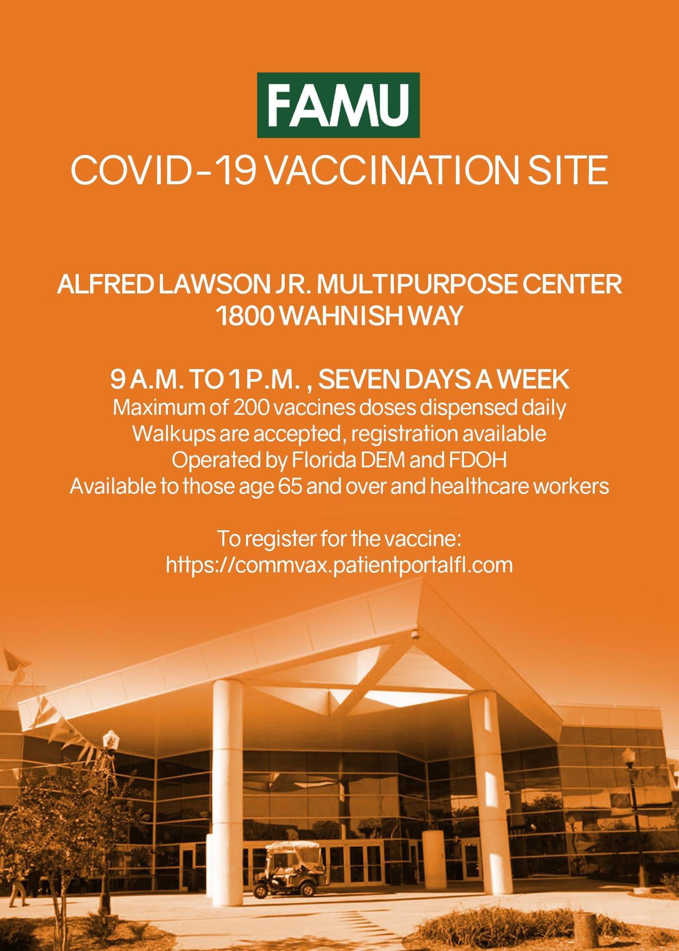 FAMU Vaccination Site Flyer