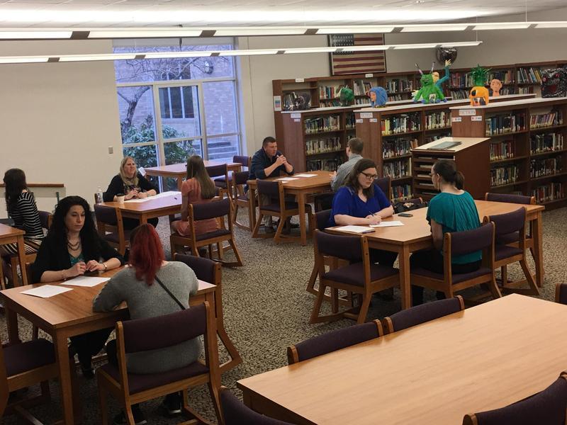 Students complete mock interviews