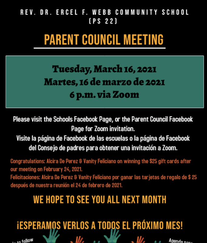 Parent Council Meeting March 16th 6:00pm Featured Photo