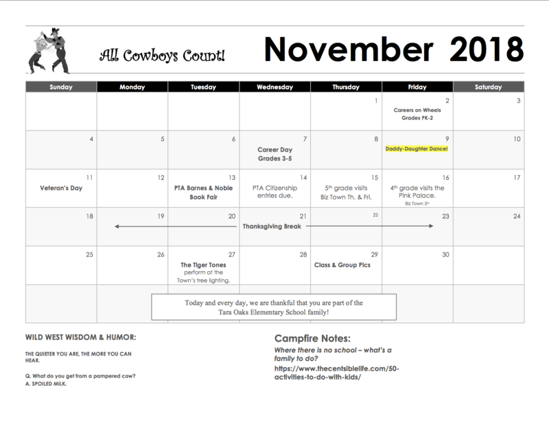 This Month's Parent Calendar Featured Photo