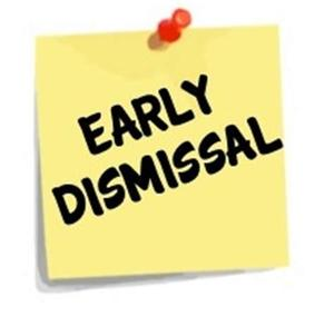 Early Dismissal note