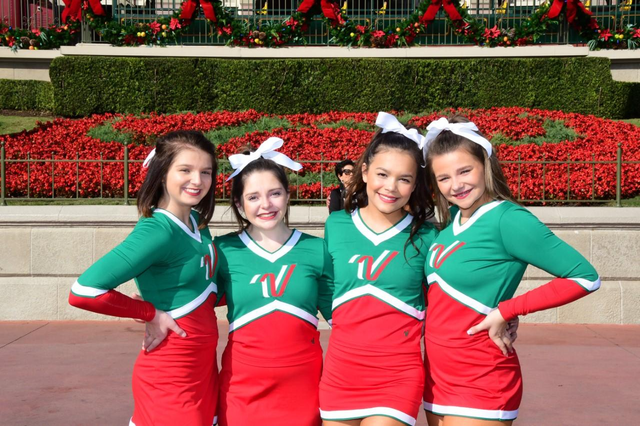 Brewer High School Cheer Captains Kiley Benedict, Lauryn Chan, Jenna Hooten and Ella Ikerd were selected to perform in the Disney Parks Magical Christmas Parade.