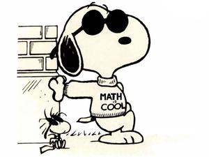 Snoopy and Woodstock.  Math is Cool