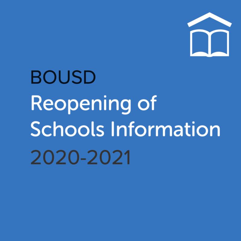 Reopening of Schools Info