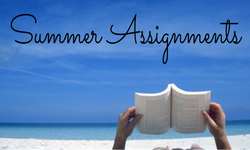 Click Here to Access Your Summer Assignments Featured Photo