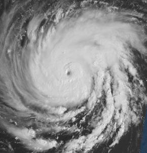 An earlier satellite image from hurricane