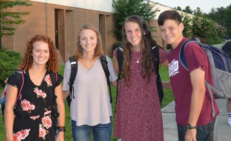 group on 1st day of school