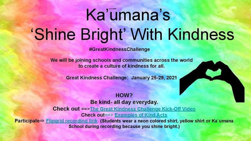 Kaumana's Shine Bright with Kindness