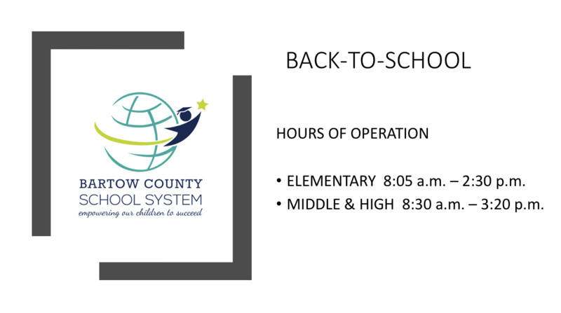 New School Hours of Operation