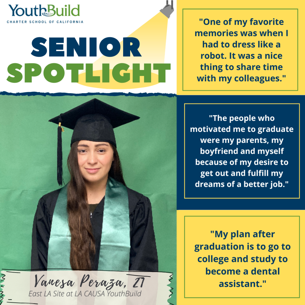 Senior Spotlight for graduate Vanesa Peraza