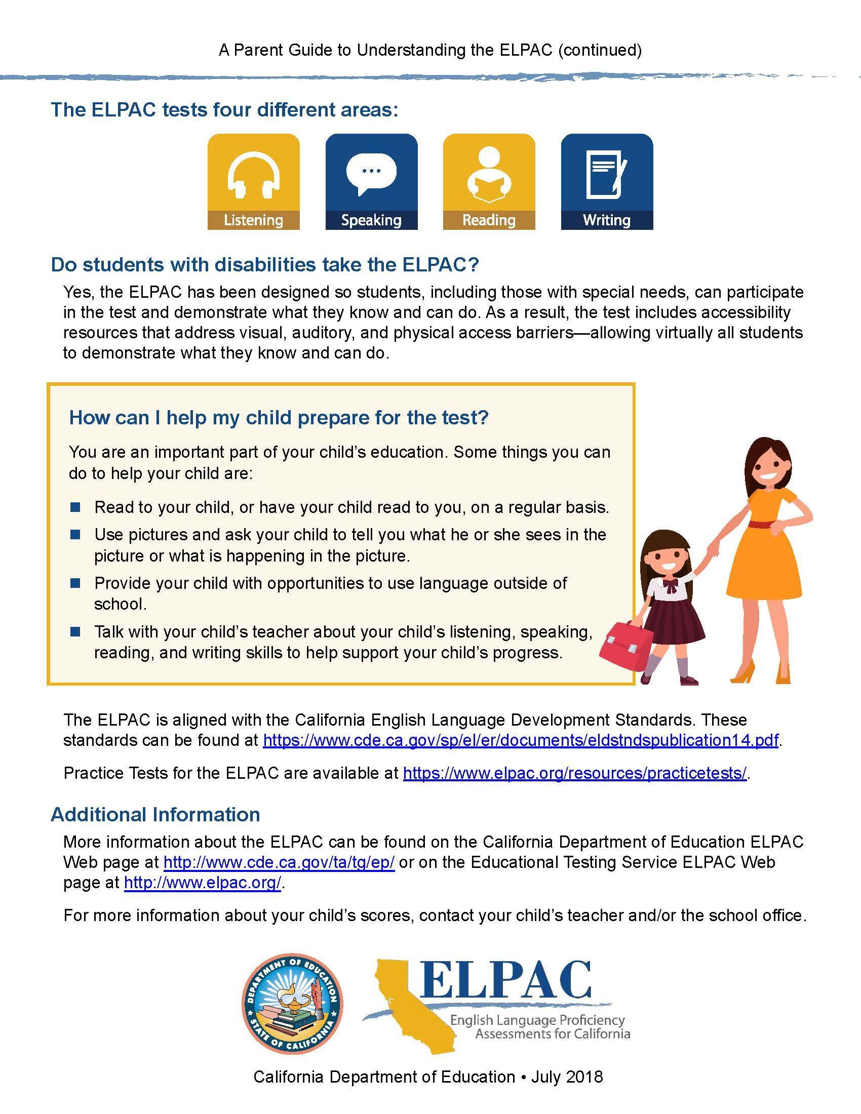 ELPAC Parent Guide English Page 2